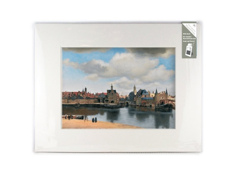 Matted prints , XL, 40 x 30 cm, View of Delft