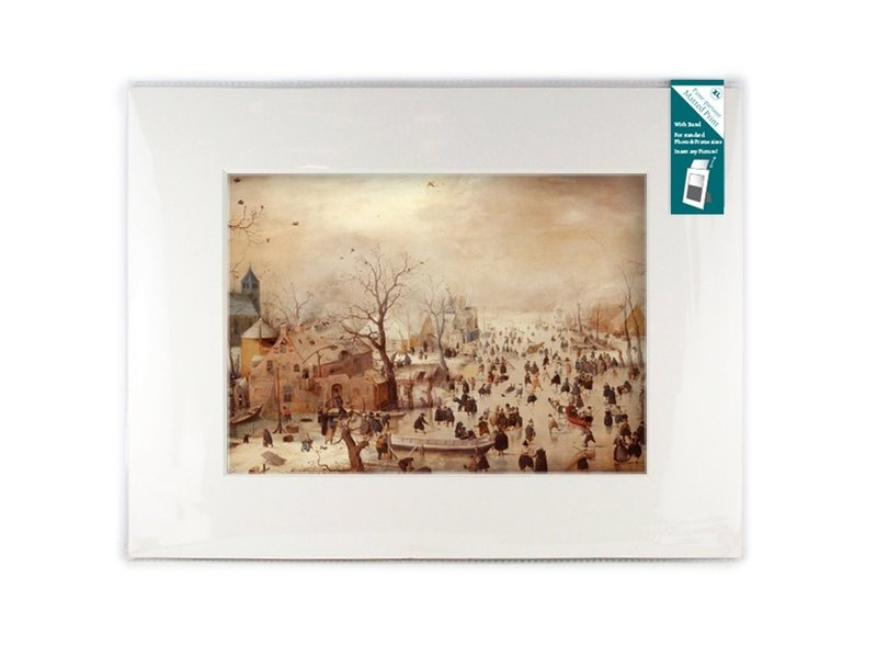 Matted prints with reproduction, XL, Winter landscape, Avercamp