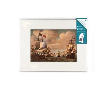 Passe-Partout met reproductie, L, Ships Prins/Gouden Leeuw, vd Velde