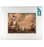 Matted prints with reproduction, XL, Ships at sea, Van de Velde