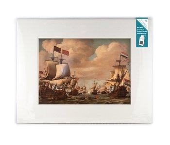 Passe-partout con reproducción, XL, Barcos en el mar, Van de Velde