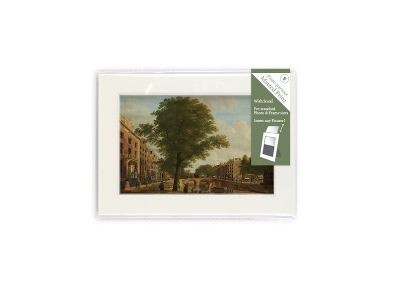 Matted prints with reproduction, S, View on the Herengracht, Keun