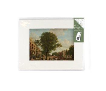 Passe-partout met reproductie, M, Zicht op de Herengracht, Keun