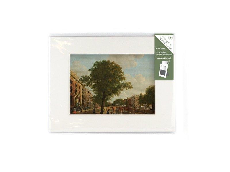 Passe-partout con reproducción, M, Vista del Herengracht, Keun