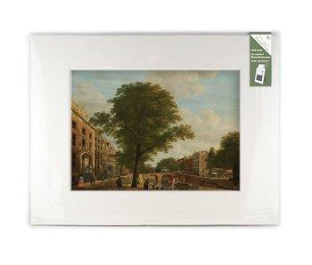 Passe-partout met reproductie, XL, Zicht op de Herengracht, Keun