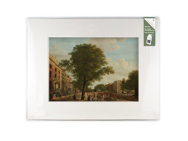 Passe-partout avec reproduction, XL, vue sur le Herengracht, Keun
