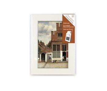 Passe-partout ,S ,18 x 12.8 cm , Straatje van Vermeer