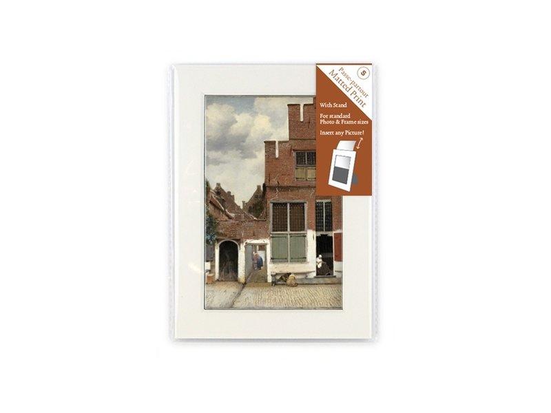 Matted prints, S, 18 x 12.8 cm, Little Street of Vermeer