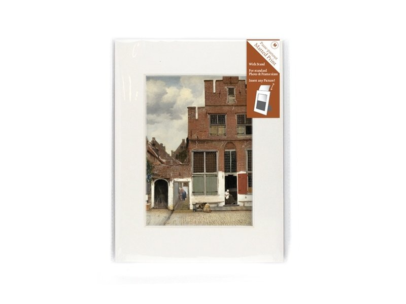 Passe-partout ,M,24 x 18 cm ,Straatje van Vermeer