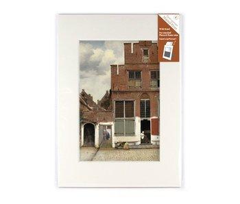 Passe-partout , L , 29.7 x 21 cm , Straatje van Vermeer