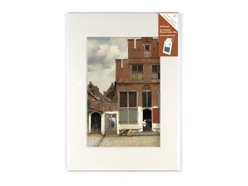 Passe-partout, L, 29.7 x 21 cm, Pequeña calle de Vermeer