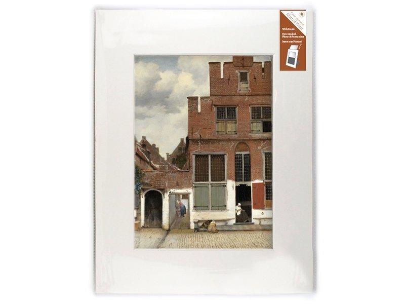 Passe-partout,  XL,  40 x 30 cm ,  Straatje van Vermeer