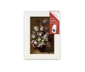 Matted prints with reproduction, S, Still life with flowers, Bollongier