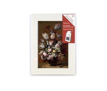 Passe-partout con reproducción, S, Bodegón con flores, Bollongier