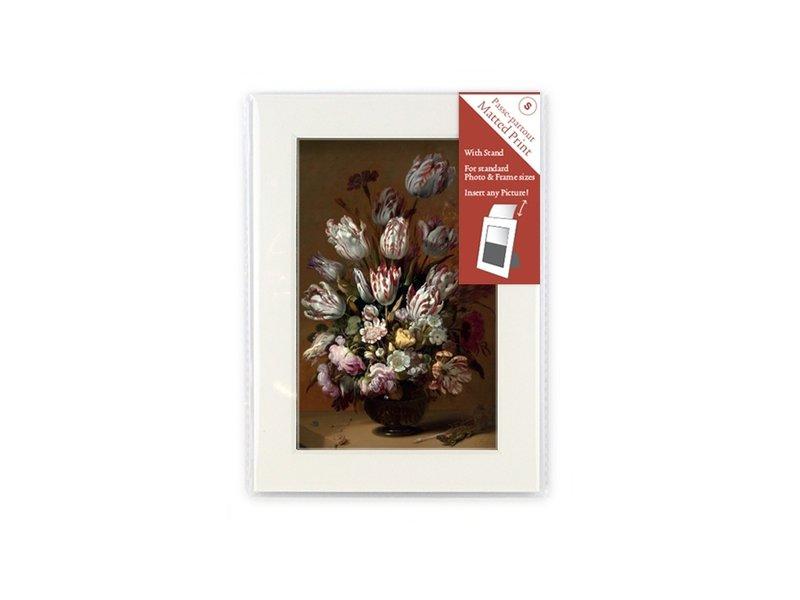 Passe-Partout mit Reproduktion, S, Stillleben mit Blumen, Bollongier