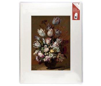 Passe-Partout mit Reproduktion, XL, Stillleben mit Blumen, Bollongier
