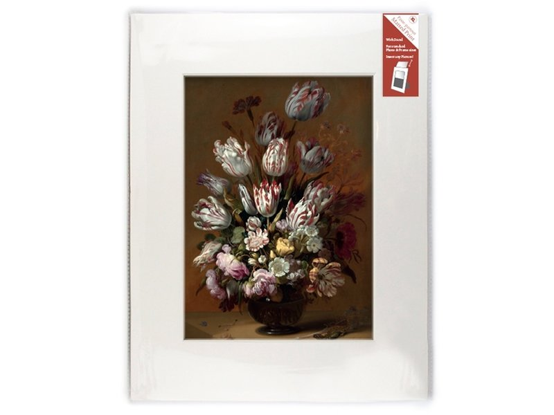 Matted prints with reproduction, XL, Still life with flowers, Bollongier