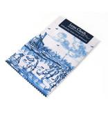 Tissu pour verres, Bleu de Delft, Moulin à vent avec patineurs