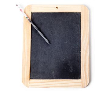 Ardoise d'écriture avec un crayon