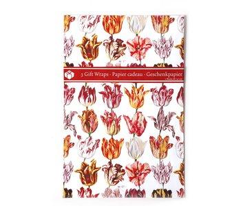 Papel de regalo, tulipanes Marrel