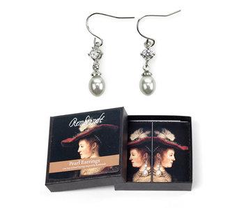 Pendientes de perlas, Saskia, Rembrandt