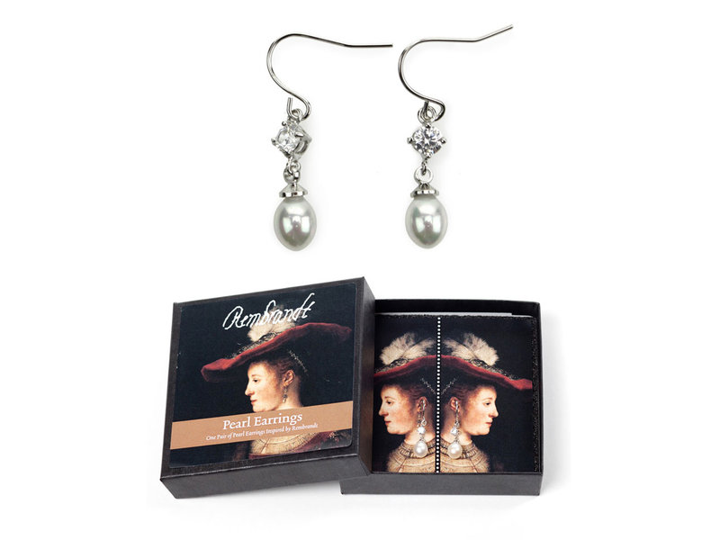 Pearl earrings, Saskia, Rembrandt