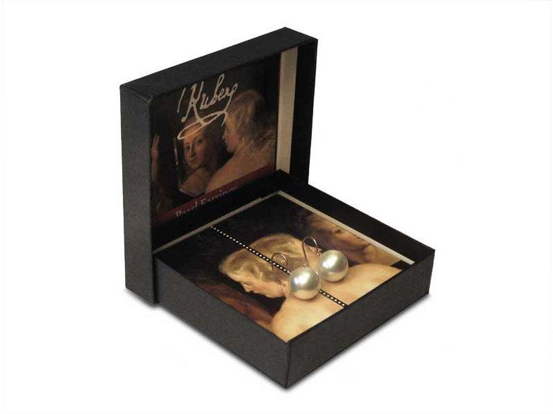 Perlenohrringe, Silberanhänger, Rubens