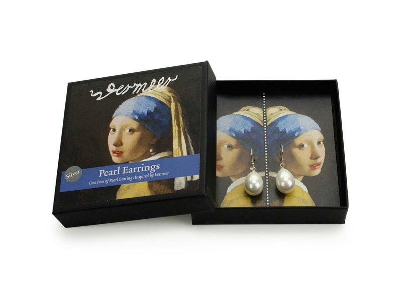Boucles d'oreilles perles argent, Jeune fille à la perle, Vermeer