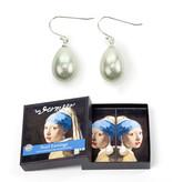 Parel oorbellen zilver,  Meisje met de parel, Vermeer