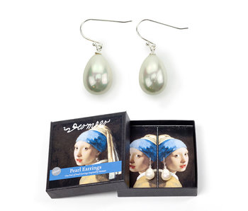 Pearl Earrings, Silver, Vermeer, Girl with the Pearl earring
