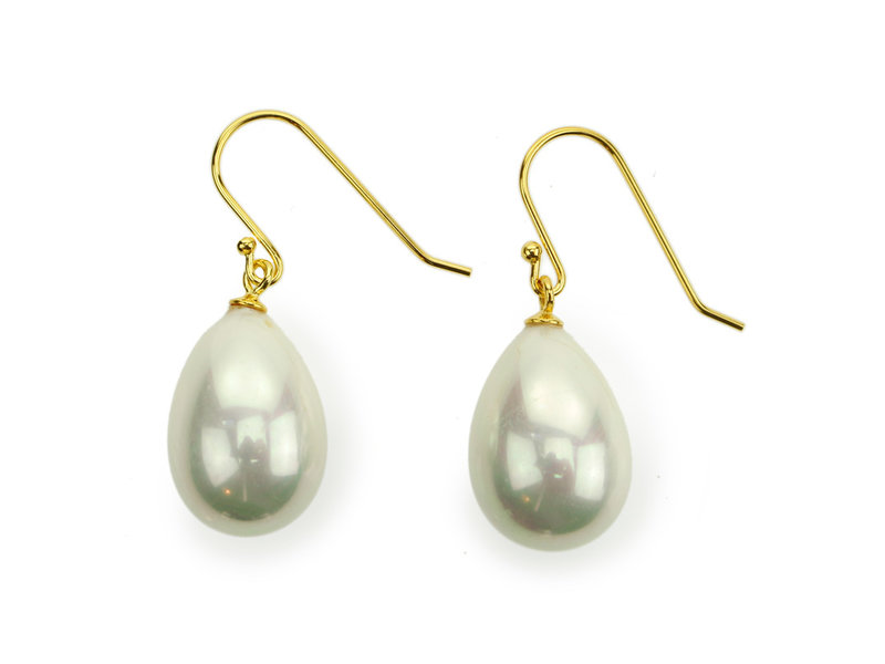 Pearl earrings gold plated, Girl with a pearl earring, Vermeer