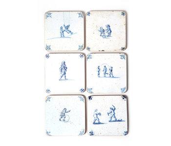 Dessous de verre,, tuiles bleues de Delft Jeux pour enfants