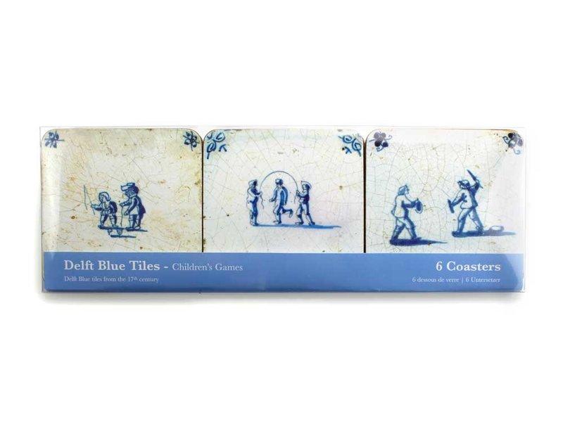 Untersetzer , Delfter Blauer Fliesen - Kinderspiele