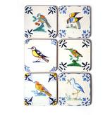 Posavasos, azulejos policromados de Delft Aves