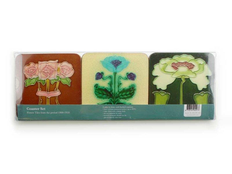 Dessous de verre Art Nouveau FlowerTiles des années 1900-1910