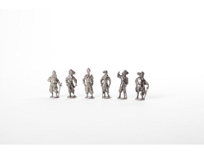 Réplicas de figuras, mosqueteros