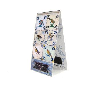 Magnetic Bookmark, Delft Blue Tiles