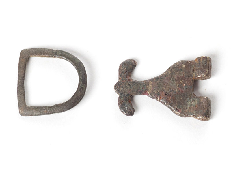 Hallazgos arqueológicos, hebilla, empaquetada