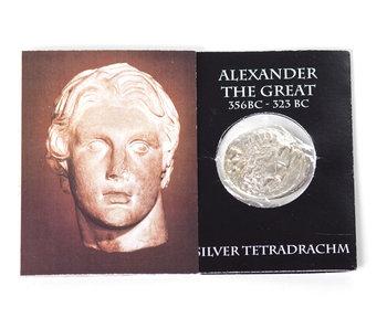 Moneda réplica, Alejandro Magno, envasada