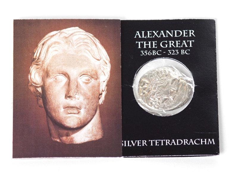 Replik-Münze, Alexander der Große, verpackt