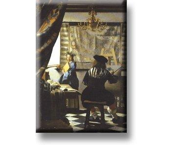 Kühlschrankmagnet, Johannes Vermeer, Die Kunst des Malens