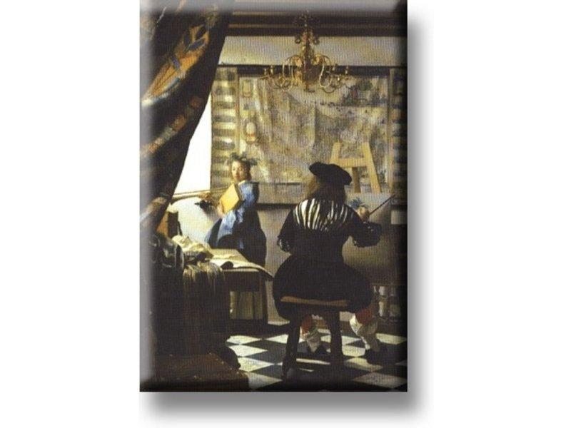 Imán de nevera, El arte de la pintura, Vermeer