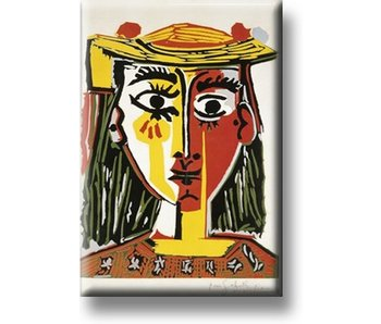 Aimant pour réfrigérateur, Fille avec Sombrero, Picasso