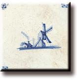 Fridge magnet, Delft blue tile, Windmill 'De Eendracht'