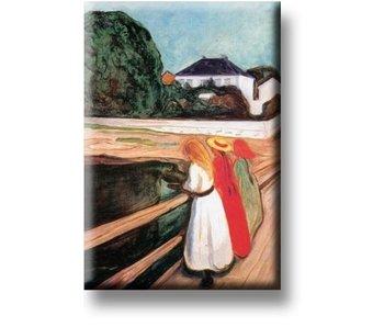 Aimant pour réfrigérateur, Les filles sur le pont, Munch