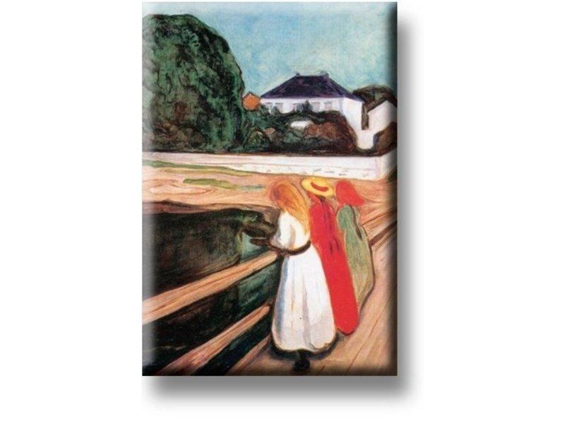Kühlschrankmagnet, Die Mädchen auf der Brücke, Munch