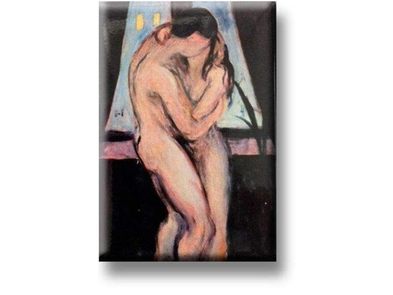 Kühlschrankmagnet, der Kuss, Munch