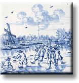 Kühlschrankmagnet, Delfter blaue Fliese, Kinderspiele, Eisspaß