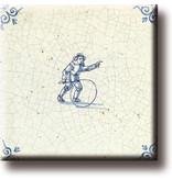 Kühlschrankmagnet, Delfter blaue Fliese, Kinderspiele, Reifen