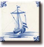 Kühlschrankmagnet, Delfter blaue Fliese, Kaffeeschiff